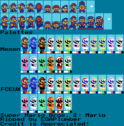 NES - Super Mario Bros  2 / Super Mario USA - Mario - The
