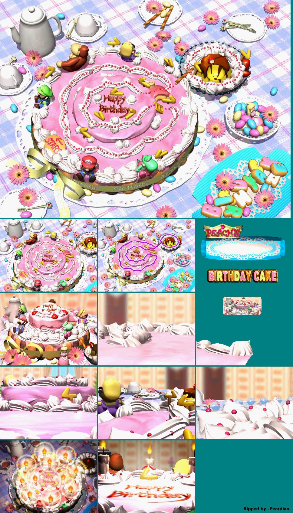 Incredible Nintendo 64 Mario Party Peachs Birthday Cake The Spriters Personalised Birthday Cards Veneteletsinfo