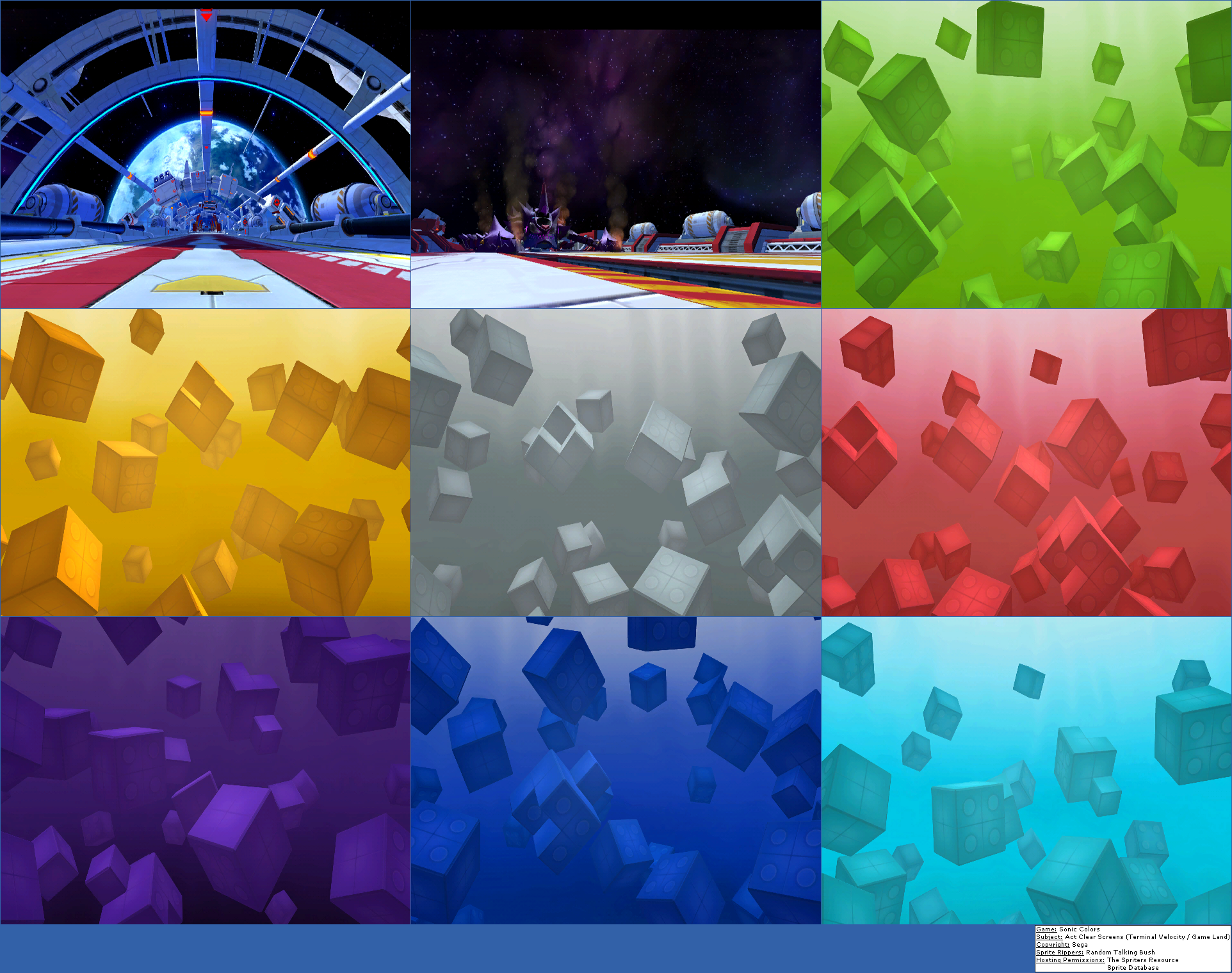 The Spriters Resource - Full Sheet View - Sonic Colors - Act