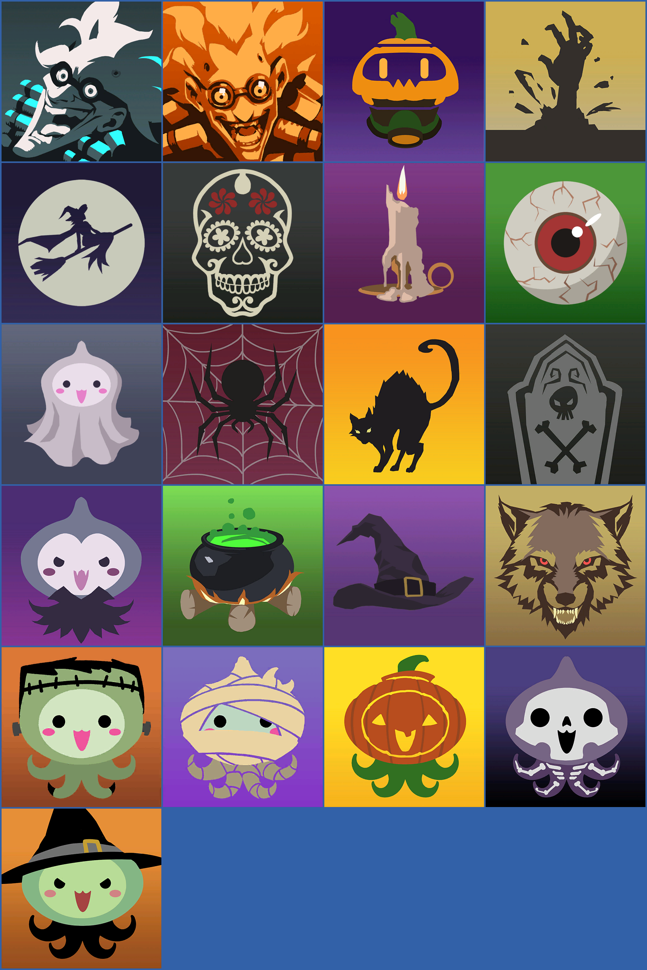 Overwatch Halloween 2020 Player Icons The Spriters Resource   Full Sheet View   Overwatch   Halloween