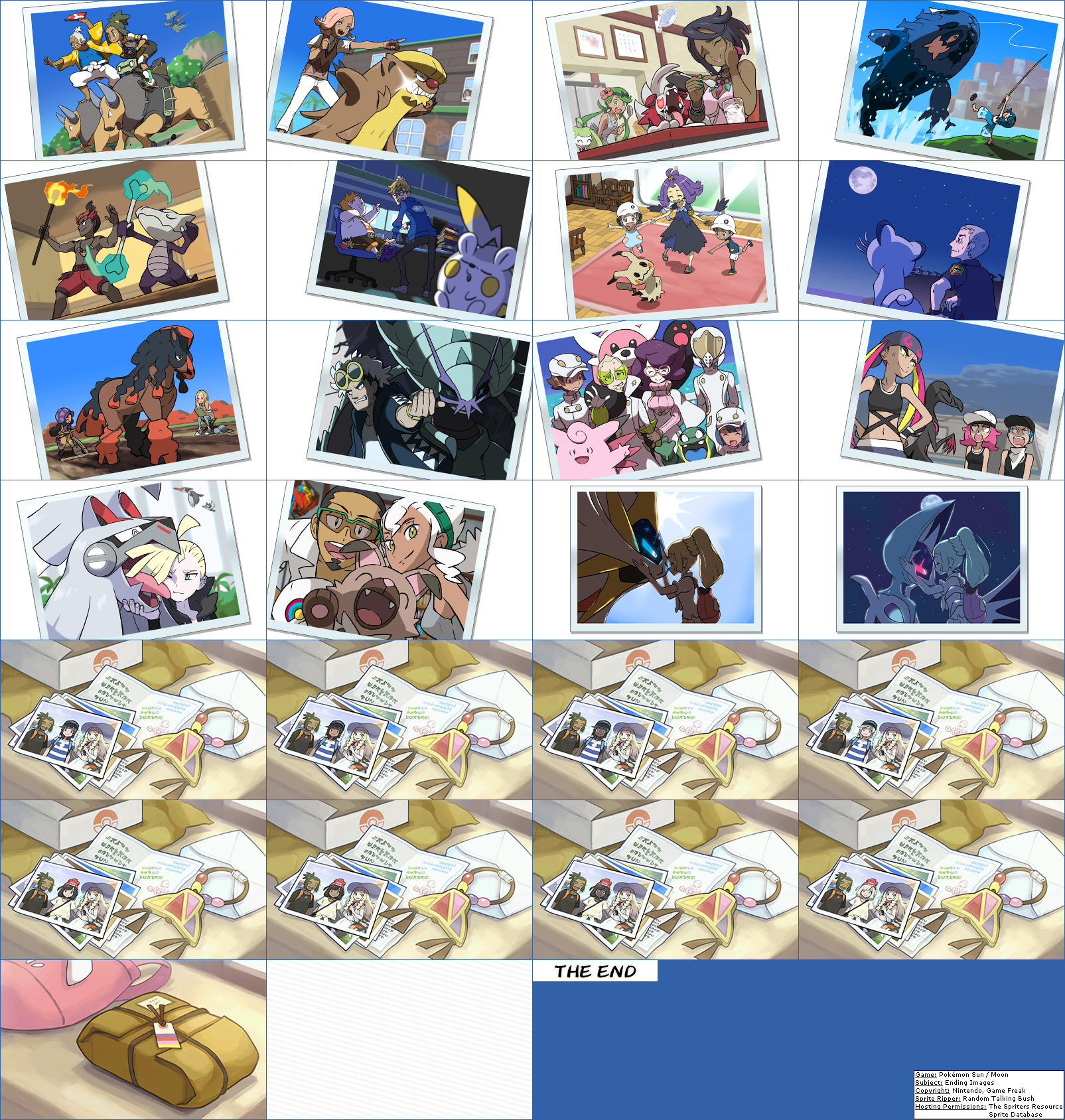 3ds Pokmon Sun Moon Ending Images The Spriters Resource Pokemon Download This Sheet