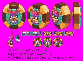 Playstation Mega Man 8 Sisi Roll The Spriters Resource