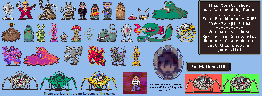 SNES - EarthBound / Mother 2 - Bosses - The Spriters Resource