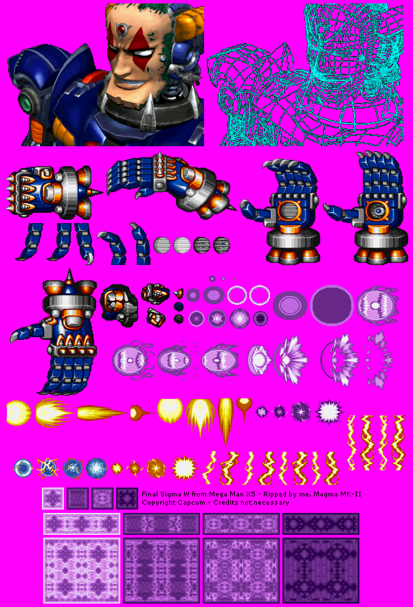 PlayStation - Mega Man X5 - Final Sigma W - The Spriters Resource