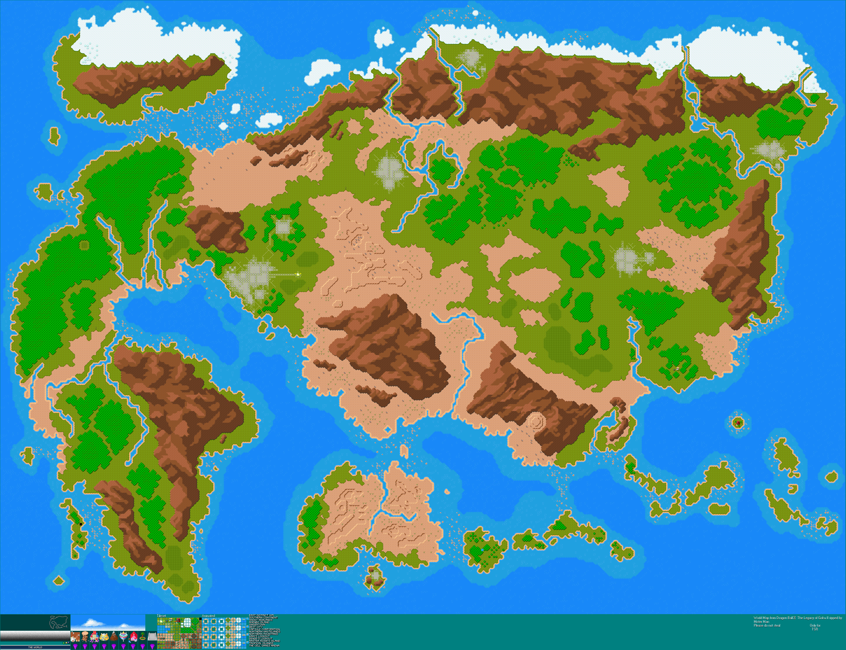 Game boy advance dragon ball z the legacy of goku ii world map click for full sized image world map gumiabroncs Choice Image