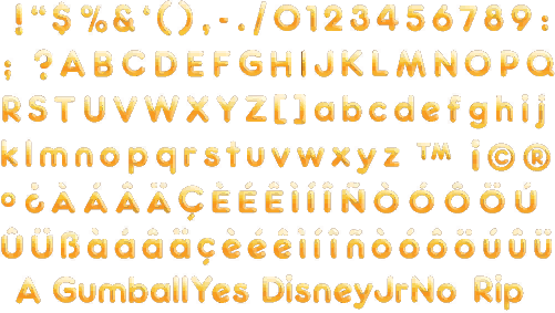 Wii - Bee Movie Game - Font - The Spriters Resource