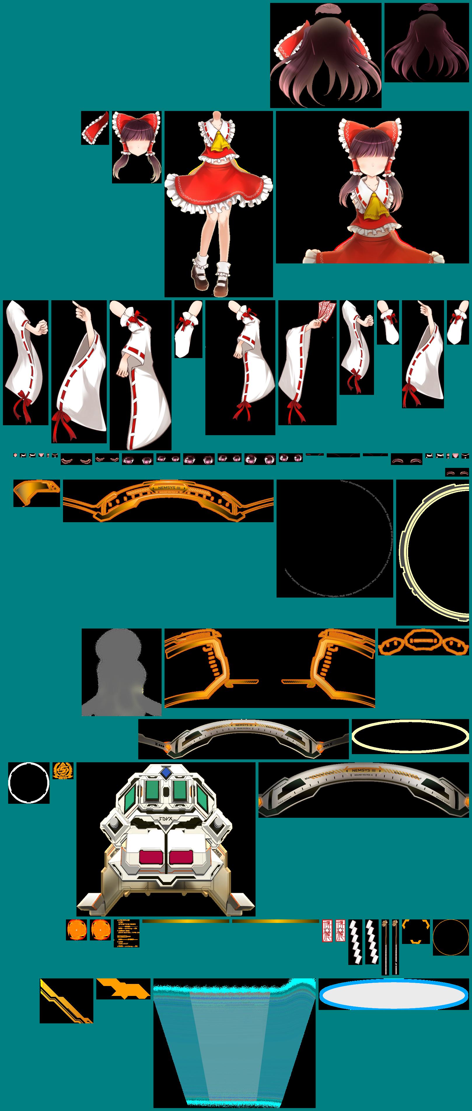 Arcade - Sound Voltex Series - Reimu Hakurei - The Spriters