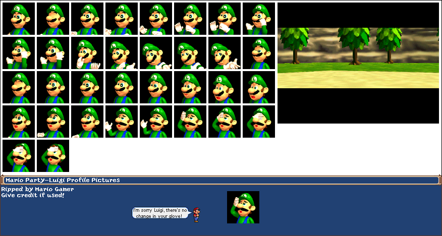 Nintendo 64 Mario Party Luigi The Spriters Resource