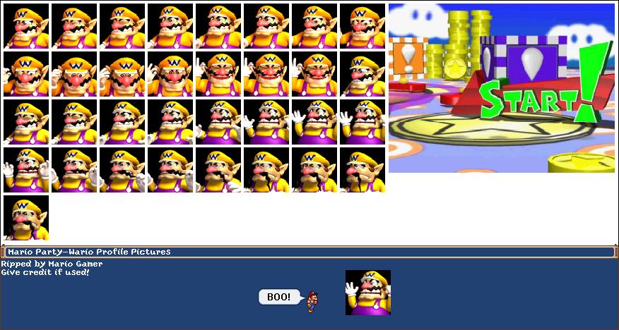 Nintendo 64 - Mario Party - Wario - The Spriters Resource