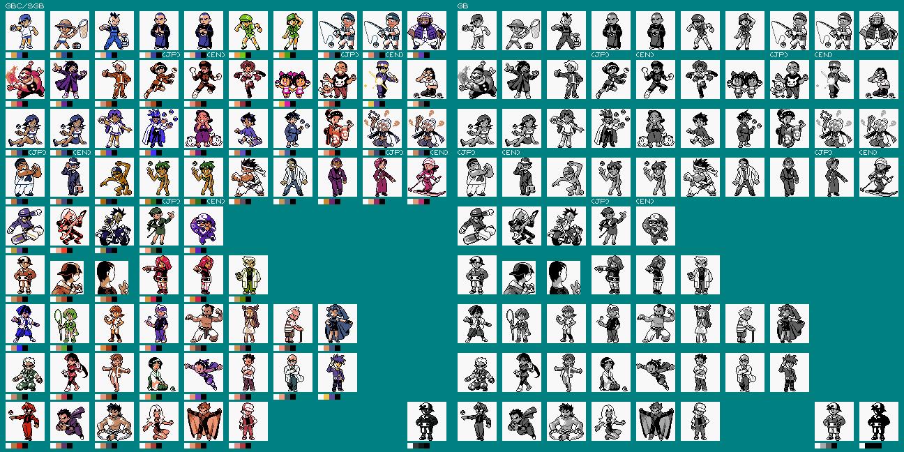 Game Boy Gbc Pokémon Gold Silver Trainers The Spriters