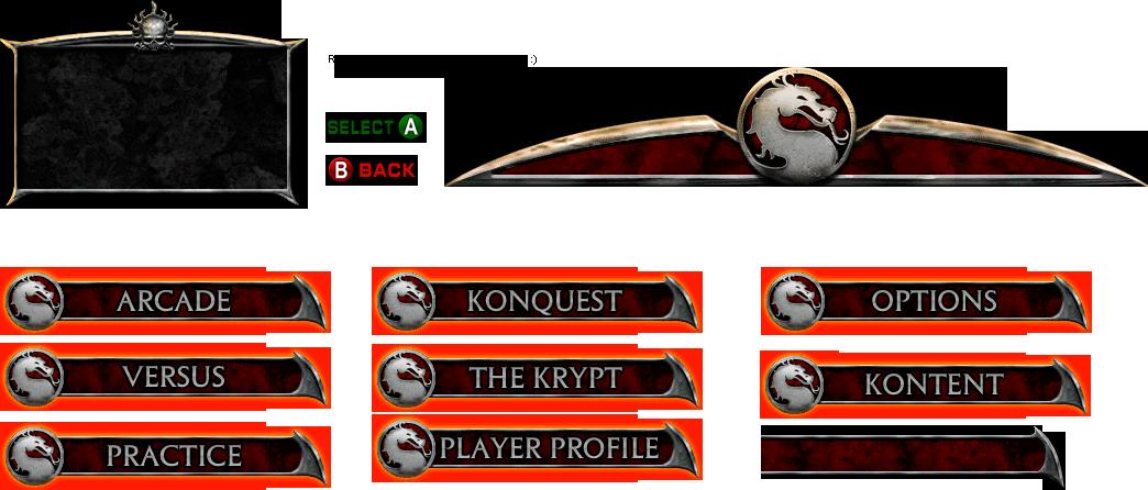 GameCube - Mortal Kombat: Deadly Alliance - Menu - The