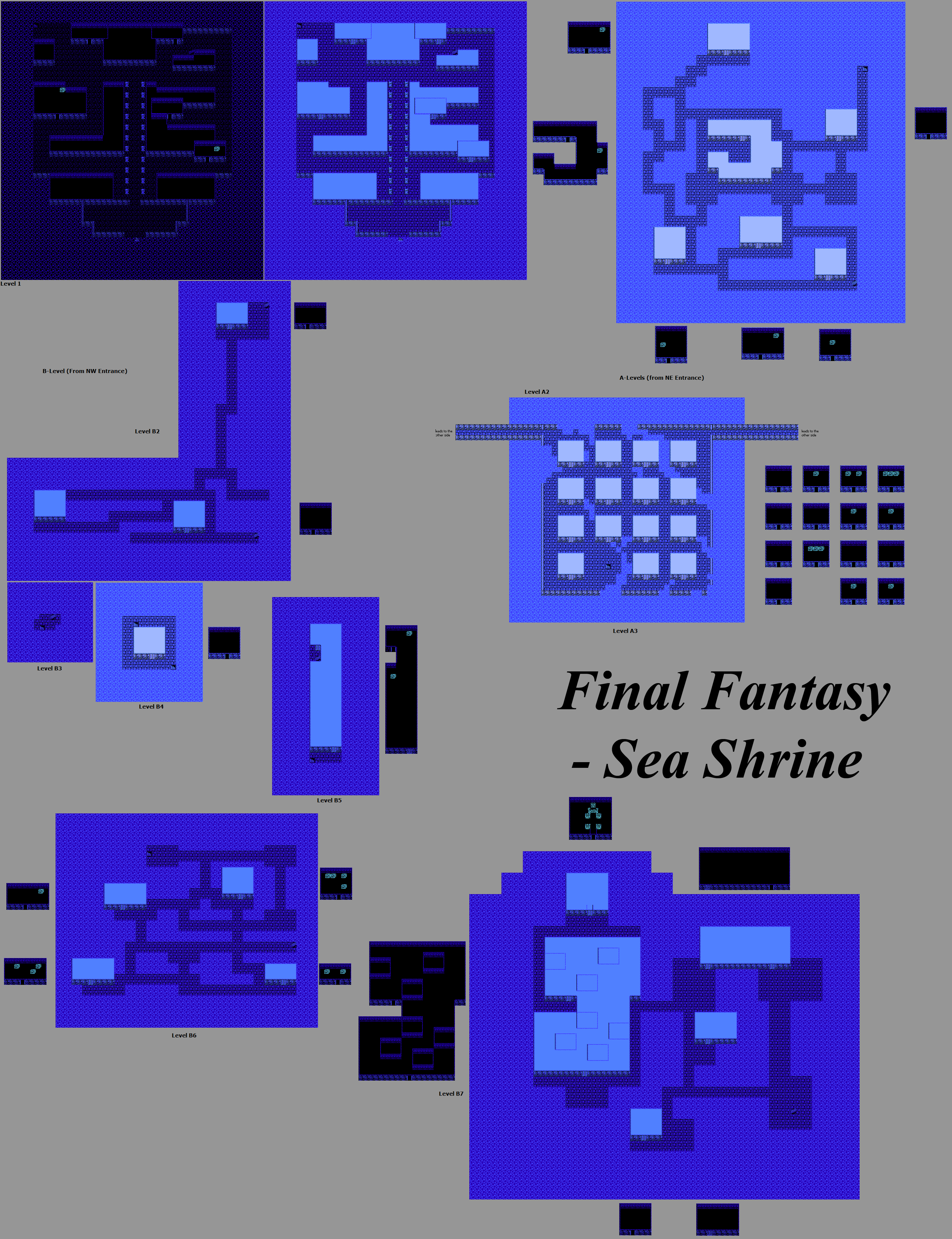 The Spriters Resource - Full Sheet View - Final Fantasy 1 - Sea Shrine