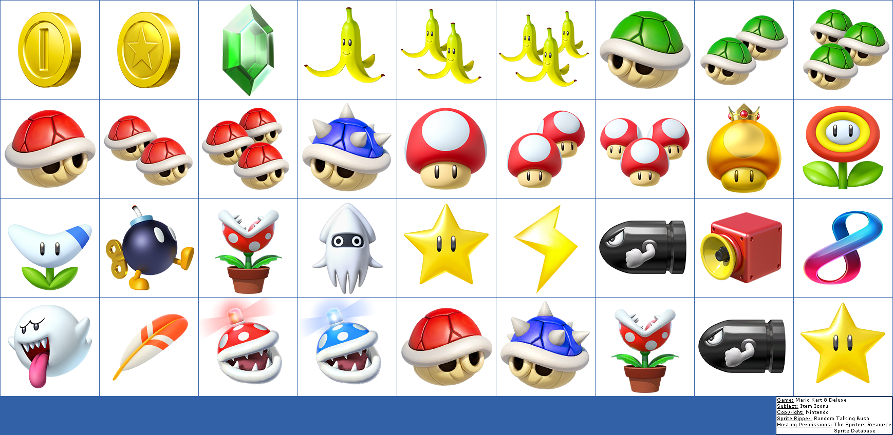 All Mario Kart 8 Items
