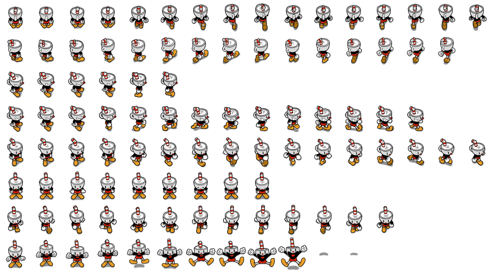 Pc Computer Cuphead Don T Deal With The Devil Cuphead Overworld The Spriters Resource