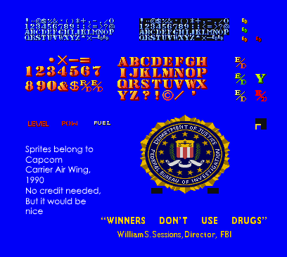 Arcade Carrier Air Wing Text Font The Spriters Resource