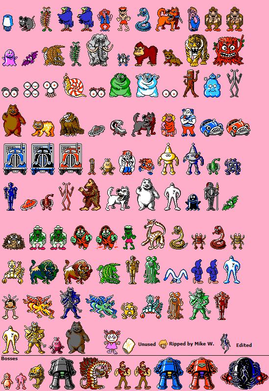 NES - EarthBound Beginnings (Prototype) / Mother (JPN) - Enemies