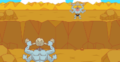 Machamp's Geodude Fight (Kairiky no Ishitsubute Gassen)