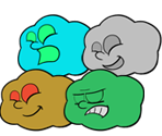 Puffs (Paper Mario-Style)