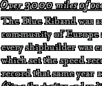 Speed Records and the Blue Riband