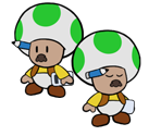 Shop Toads (The Thousand-Year Door, Paper Mario-Style)