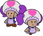 Waitress Toad (Paper Mario-Style)