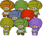 Dry Dry Toads (Paper Mario-Style)