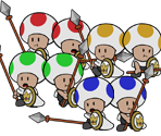 Guard Toads (Paper Mario-Style)