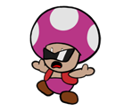 Trading Event Toad (Paper Mario-Style)