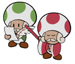 Master Poet and Desert Toad (Paper Mario-Style)