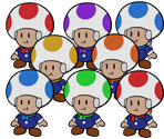 Shiver City Toads (Paper Mario-Style)