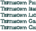 Testimony Titles (CD3)