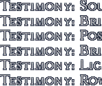 Testimony Titles (CD2)
