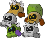 Clefts (Paper Mario-Style)