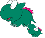 Dino Rhino and Dino Torch (Paper Mario Style)