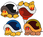 Buzzy Beetle & Family (Paper Mario: Color Splash-Style)