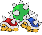 Spiny (Paper Mario-Style, Modern)