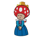 Princess Toadstool (SMB1 Guide, Paper Mario-Style)