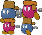 Fahr Outpost Bob-ombs (Paper Mario-Style)