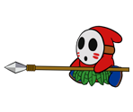 Spear Guy (Paper Mario Style, Modern)