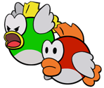 Cheep Cheeps (Paper Mario Style)