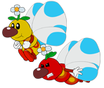Flutter (Paper Mario-Style)