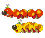 Wiggler (Paper Mario-Style, Modern, 1 / 2)