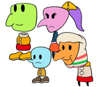 Flipside and Flopside NPCs (Paper Mario Style)