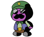 Twilight Town Shopkeeper (Paper Mario-Style)