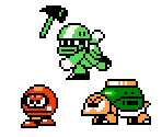 Super Mario Bros. Enemies (Mega Man style)