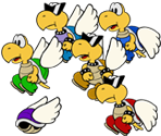 Paratroopas (Paper Mario-Style)