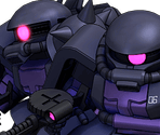 Black Tri-Stars' Zaku II High Mobility Type