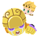 Giorno Giovanna & Gold Experience (Resolve to open a path)