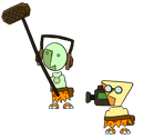 Hornfels and Monzo (Paper Mario Style)
