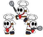 Shy Guy (Pastry Chef, Paper Mario-Style)